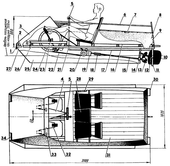 Быстроходный аквапед - Самодельные лодки