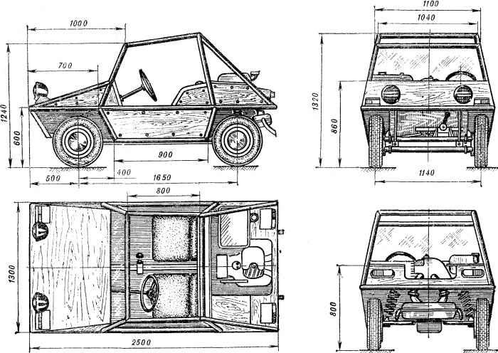 Багги-350 - спортивный автомобиль шестнадцатилетних