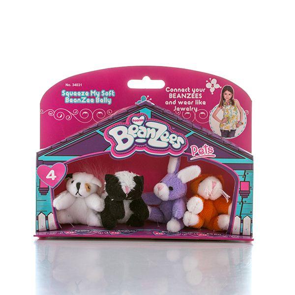 Beanzeez, миниатюрные мягкие игрушки