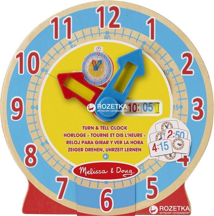 Часы деревянные melissa doug с карточками-заданиями