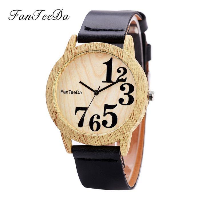 Деревянные браслетики-часы