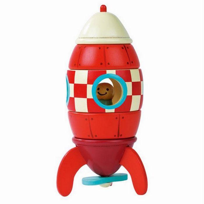 Деревянные магнитные конструкторы: ракета, самолёт, вертолёт