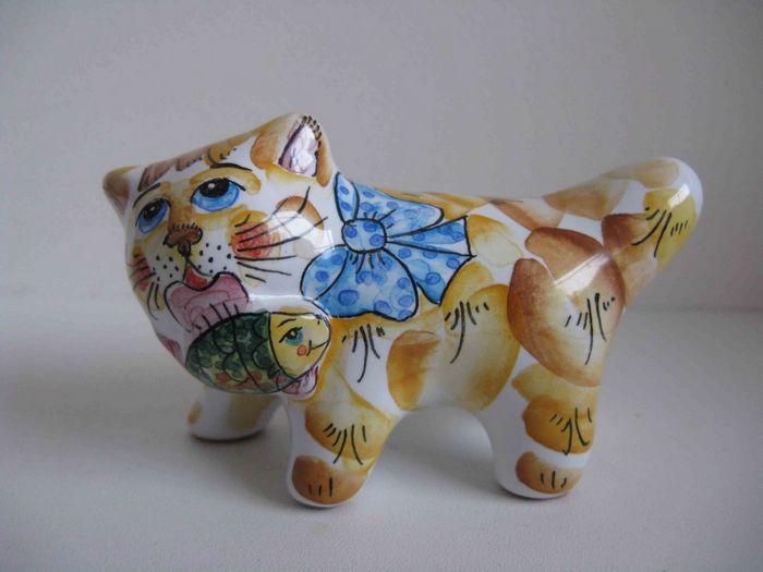 Деревянный пазл. кот с аквариумом