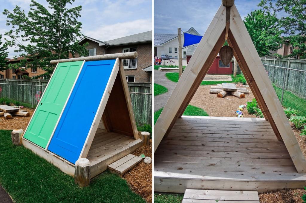 Детская площадка на даче: купить или обустроить своими руками? идеи