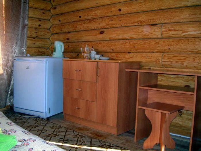 Домиком - бревенчатый дом