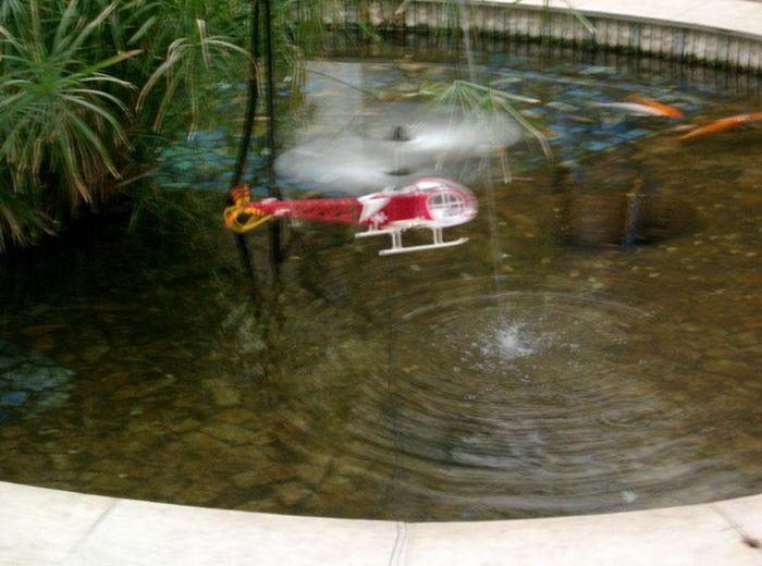 Hirobo x.r.b. lama и keyence revolutor - вертолеты на проводе