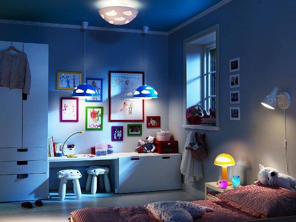 Как выбрать светильник для детской комнаты
