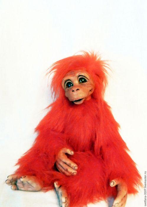 Красная огненная обезьянка, символ 2016, фото обзор игрушки