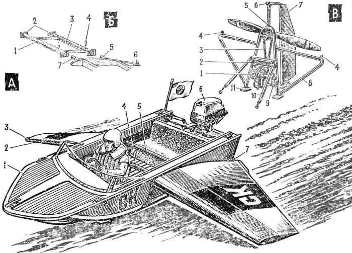 Лодка на крыльях