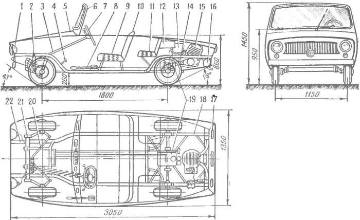 «Малютка» — школьный автомобиль