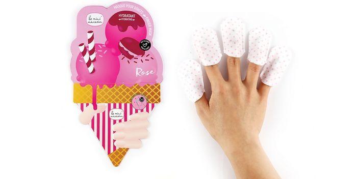 Маска для ногтей с розовым экстрактом от le mini macaron
