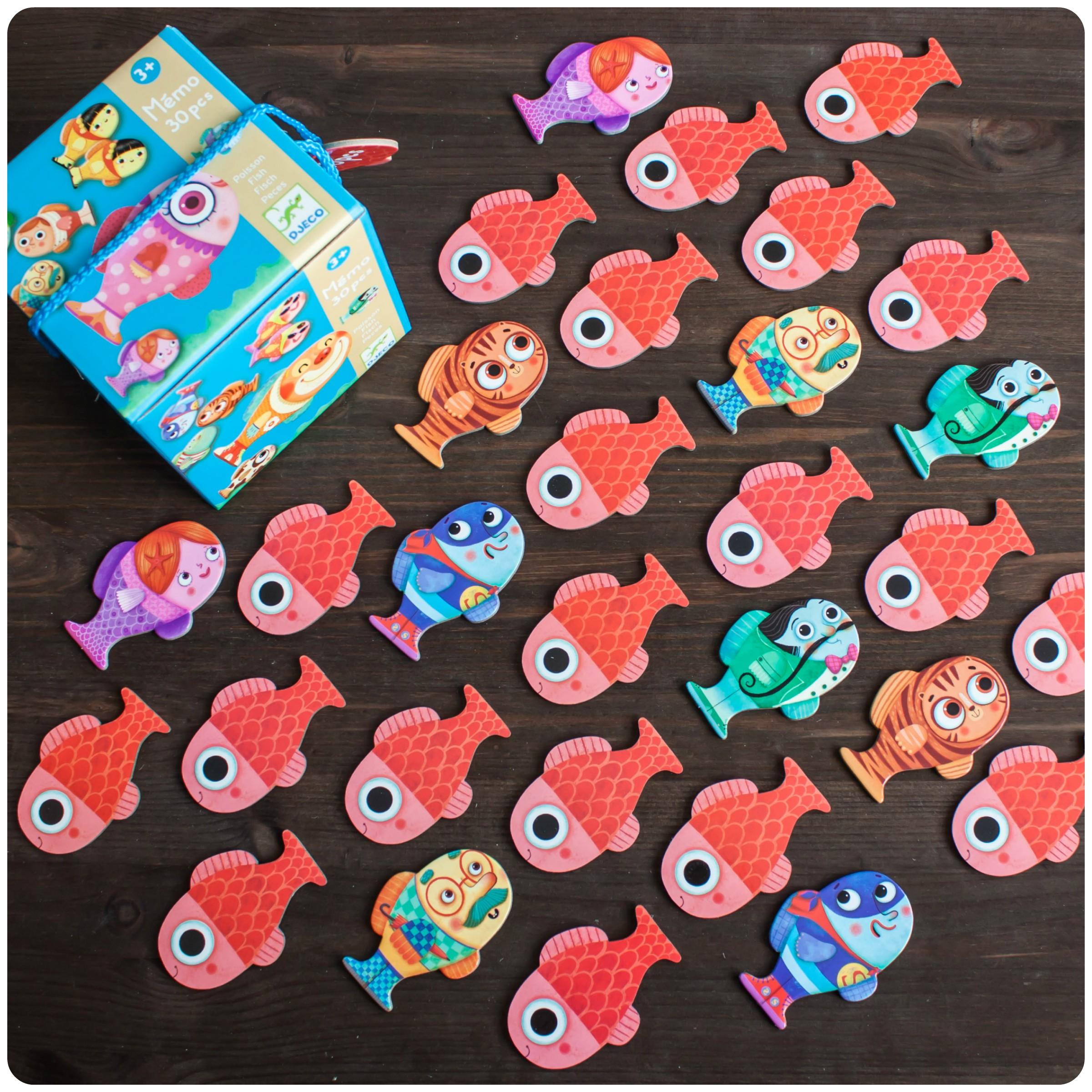 Мини-обзор игры-мемо «рыбки» от djeco