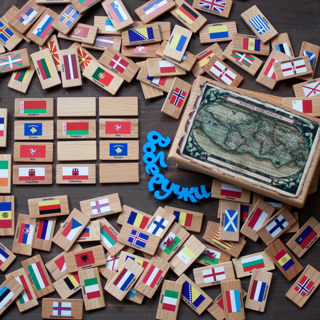 Мини-обзор игры-мемори «континенты. европа» от «царицынской игрушки»