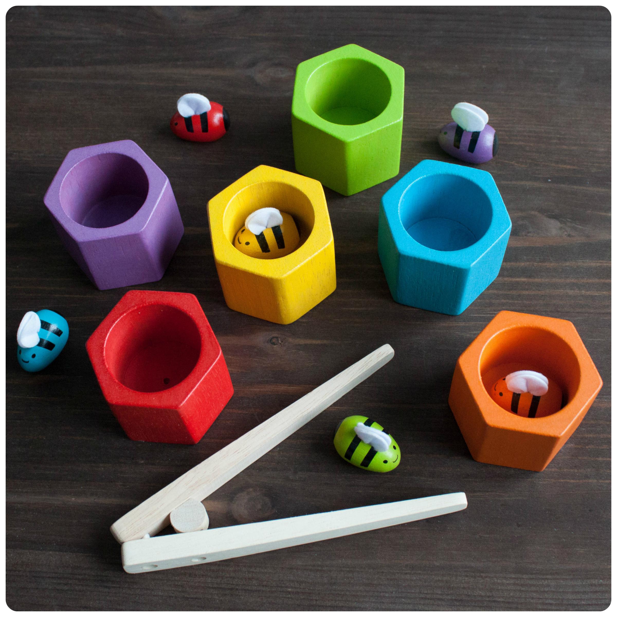 Мини-обзор игры «пчелки» от plan toys