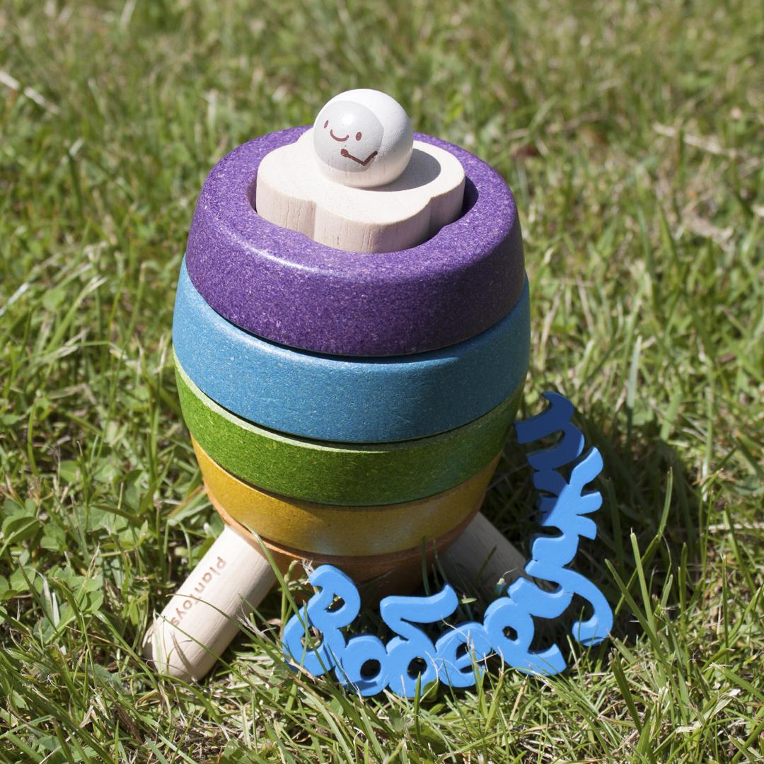 Мини-обзор пирамидки «ракета» от plan toys