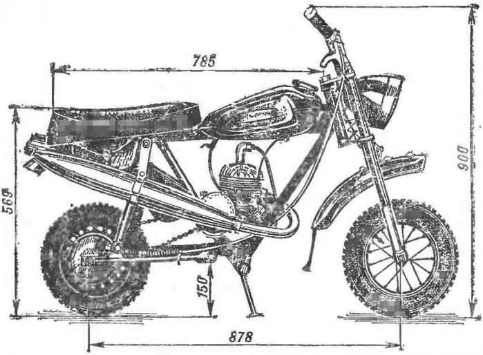 Мотоцикл в багажнике