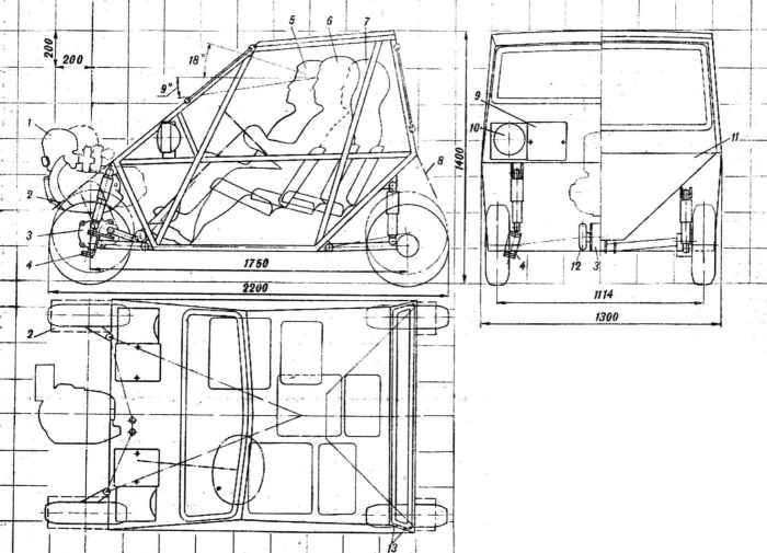 «Мотокар» - городская автоколяска