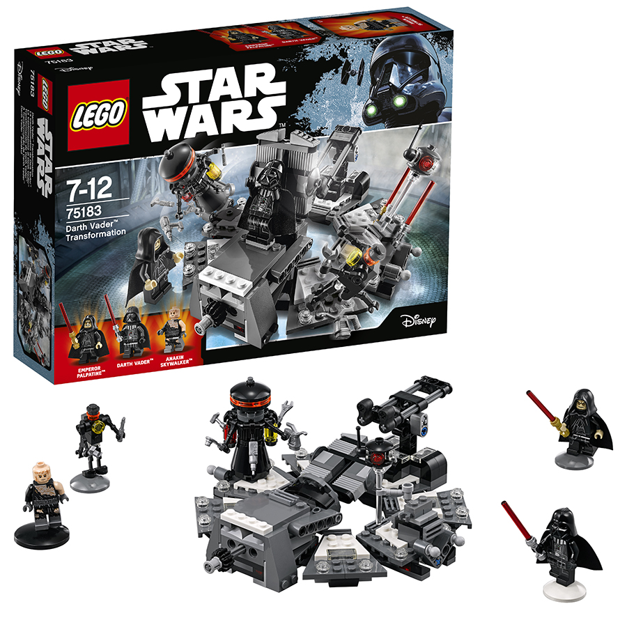 Обзор конструктора lego star wars превращение в дарта вейдера!