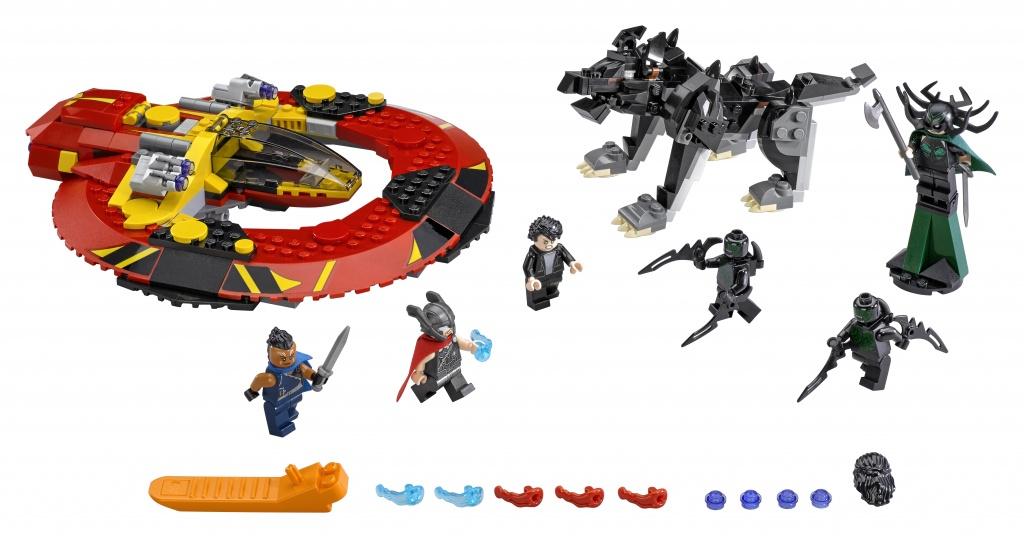 Обзор конструктора lego super heroes 76084 решающая битва за асгард
