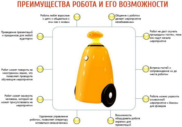 Обзор робота для праздников и выставок (rbot)
