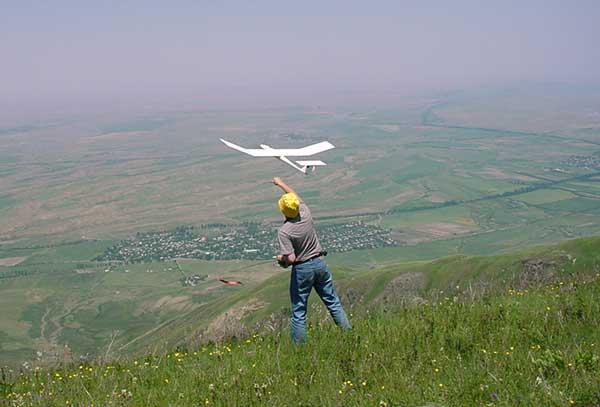 Полеты на rc-планере в динамических потоках