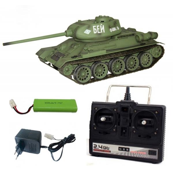 Радиоуправляемый танк heng long russia t34-85 pro масштаб 1:16 2.4g — 3909-1pro