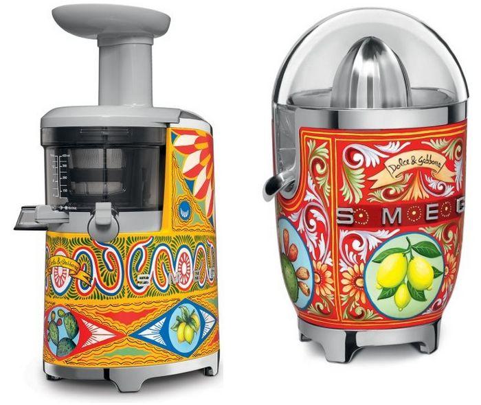 Расписные кухонные приборы от smeg и dolcegabbana