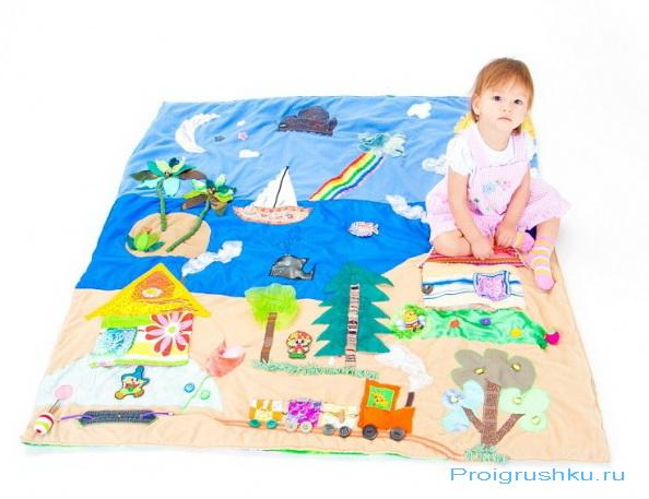 Развивающий коврик для детей - как сшить его своими руками?