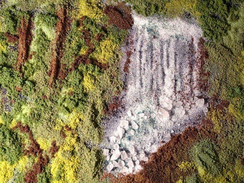 Рисование солью: объёмные картины своими руками