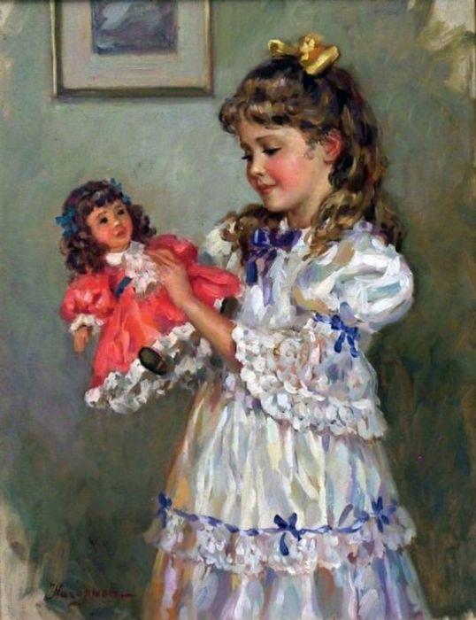 Роль куклы в воспитании ребёнка. игры с куклой.