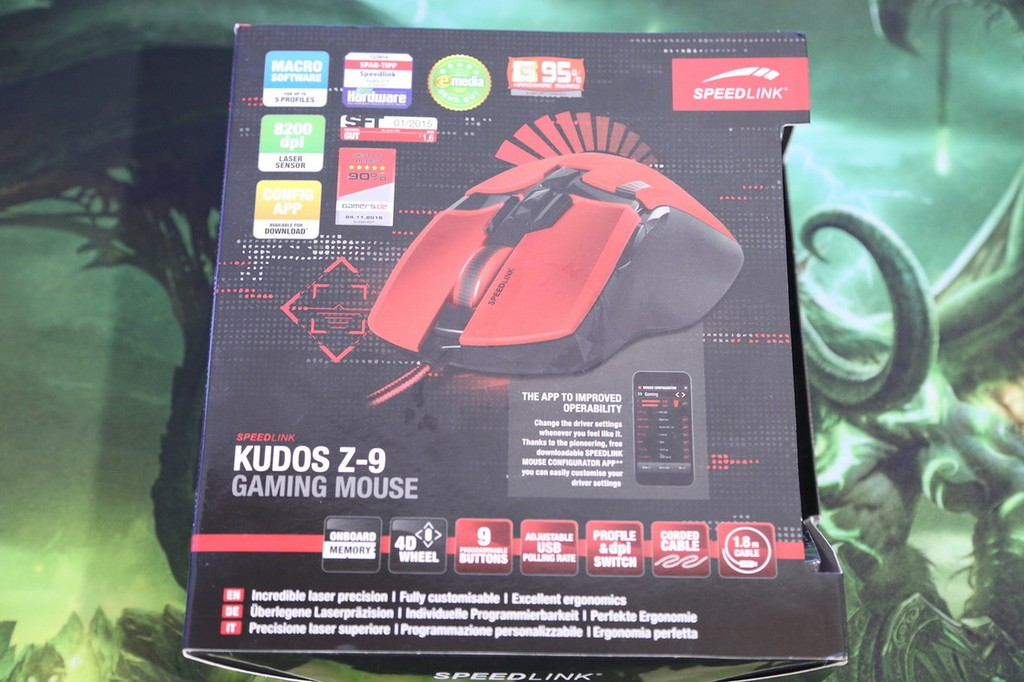 Speedlink kudos z-9 - обзор игровой мыши