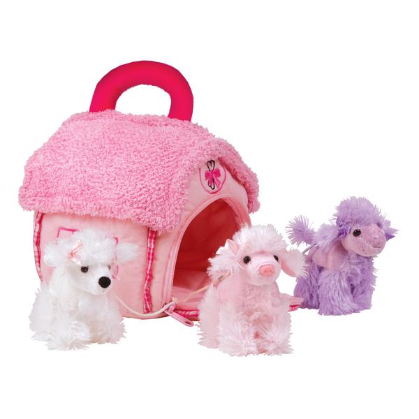 Сумочка-домик с тремя собачками (пуделями)