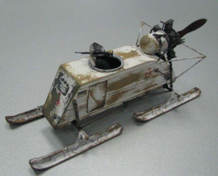 Trumpeter 1/35 бронированые аэросани сани нкл-26