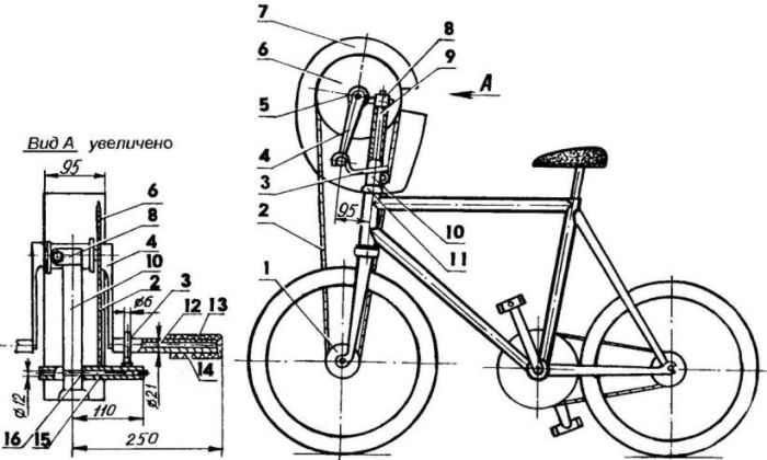 Велосипед меняет форму #2