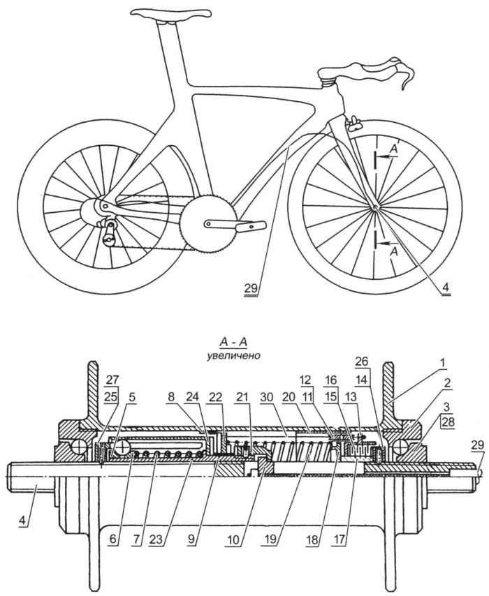 Веловтулка переключает скорости