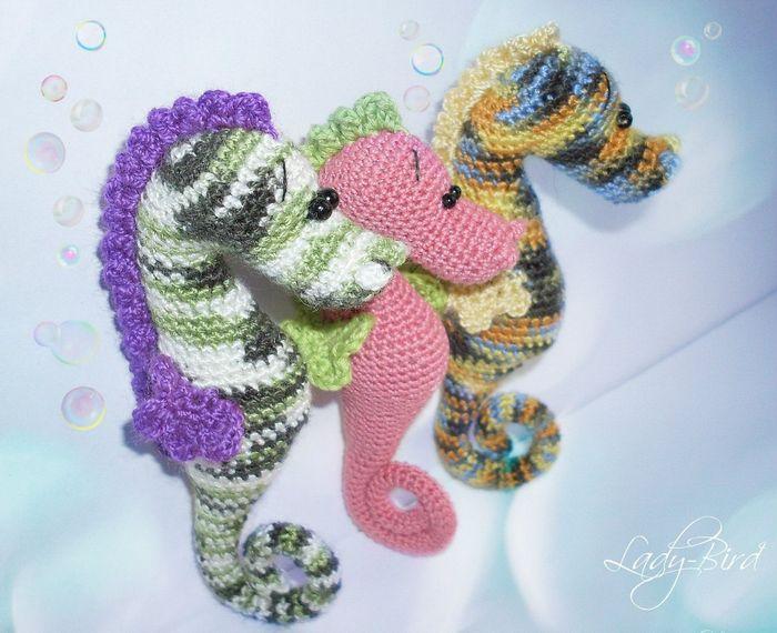 Вязаные игрушки - морские животные