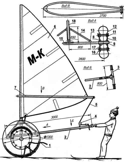 Как сделать корабль на колесах 661