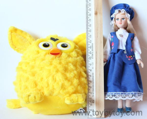 Жёлтый плюшевый furby от famosa, обзор игрушки